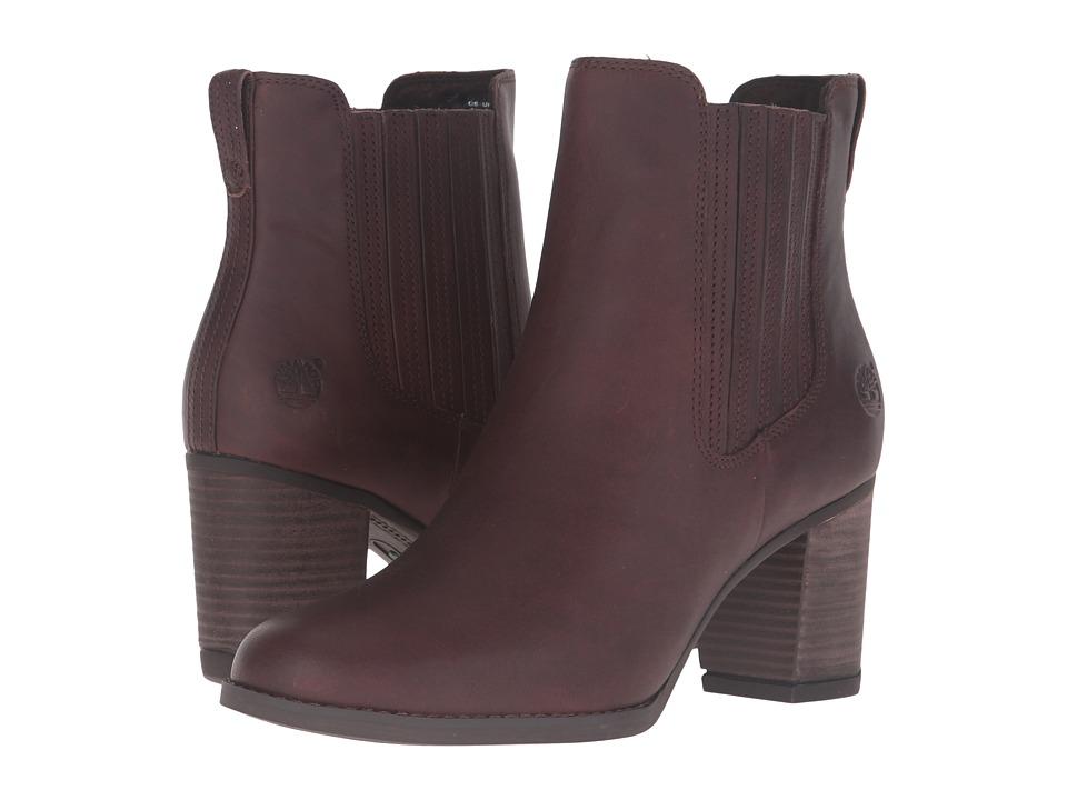 Timberland Atlantic Heights Covered Gore Chelsea Boot (Dark Brown Full Grain) Women