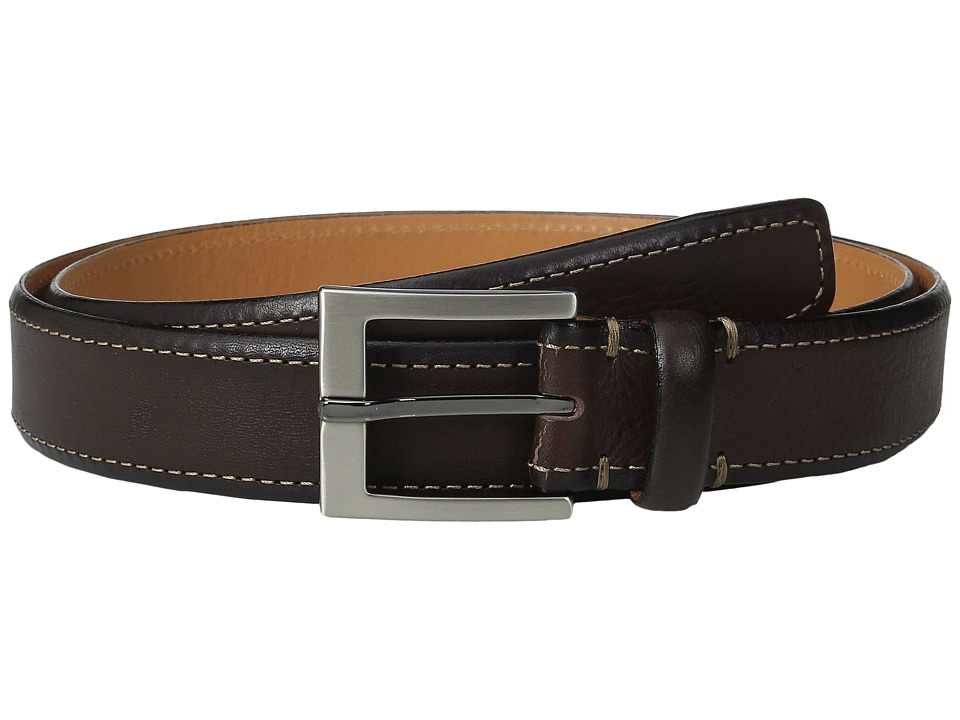 Tommy Bahama - Italian Leather w/ Contrast Stitch (Brown) Men's Belts