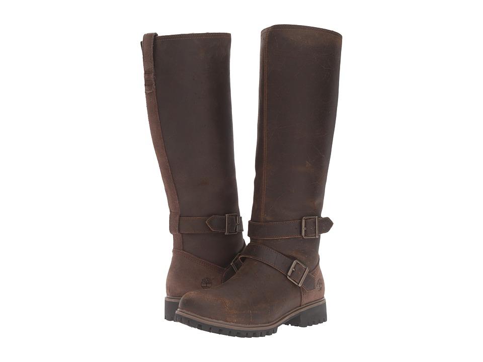 Timberland - Wheelwright Tall Medium Shaft Waterproof Boot (Dark Brown Suede) Women's Waterproof Boots