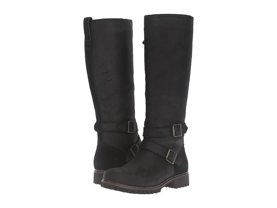 Timberland - Wheelwright Tall Medium Shaft Waterproof Boot (Black Suede) Women's Waterproof Boots