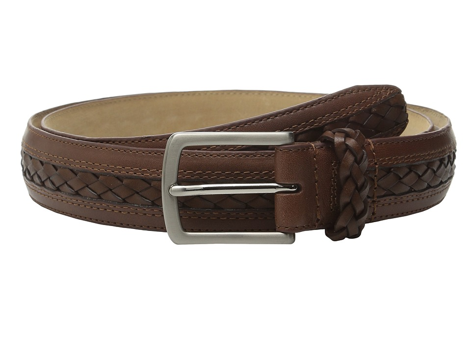 Tommy Bahama - Braided Inlay w/ Braided Keeper (Cognac) Men's Belts