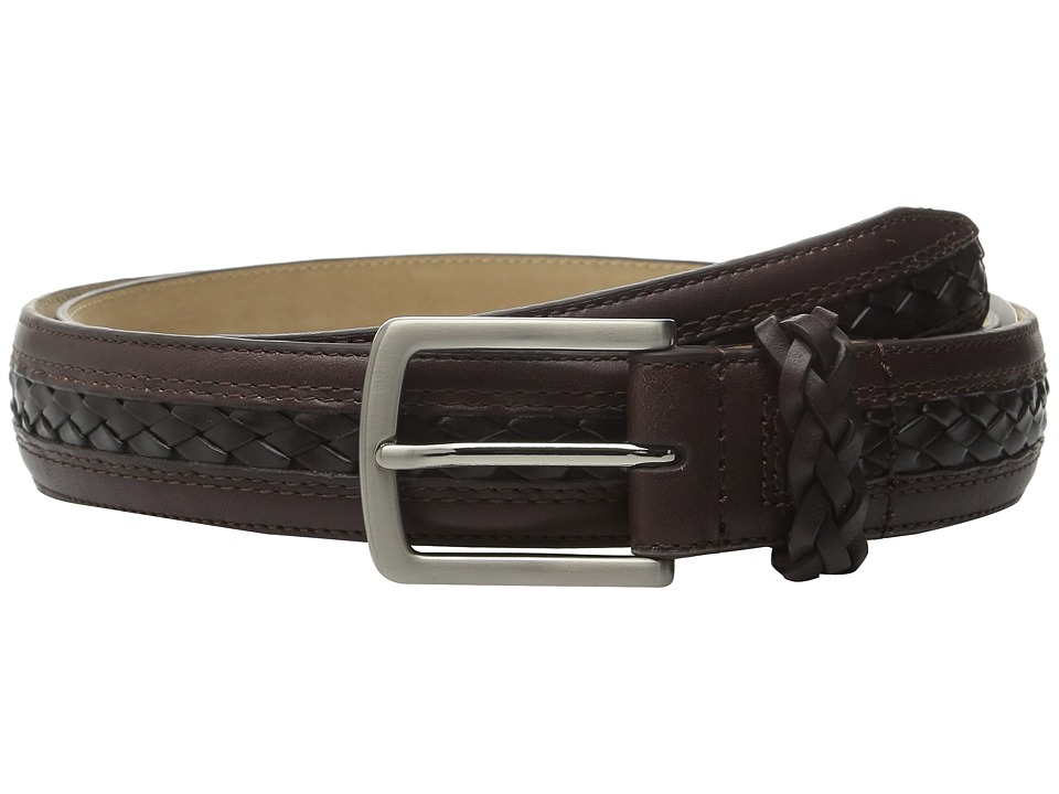 Tommy Bahama - Braided Inlay w/ Braided Keeper (Brown) Men's Belts