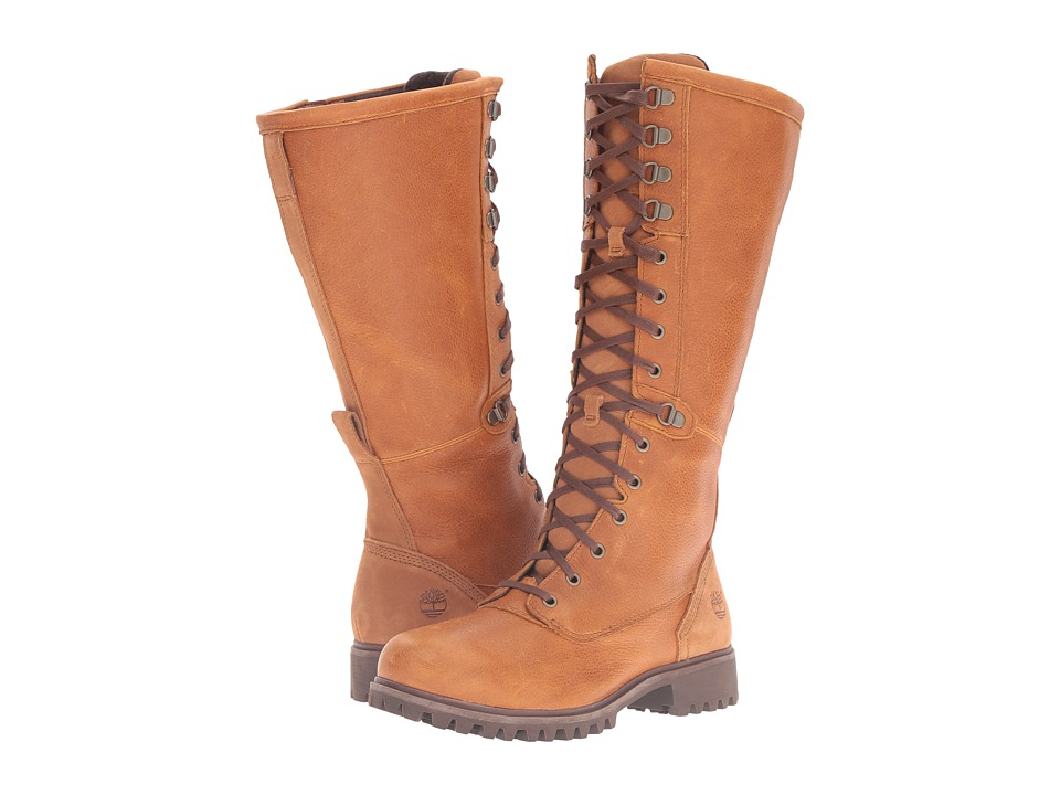Timberland Wheelwright Tall Lace Waterproof Boot (Burnt Orange Full Grain) Women