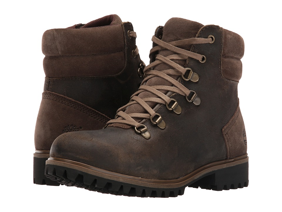 Timberland - Wheelwright Waterproof Hiker (Dark Brown Suede) Women's Waterproof Boots