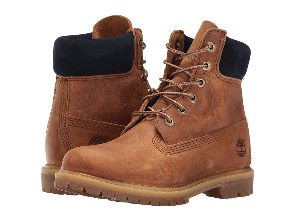 Timberland - 6 Premium Boot (Wheat Full Grain) Women's Lace-up Boots