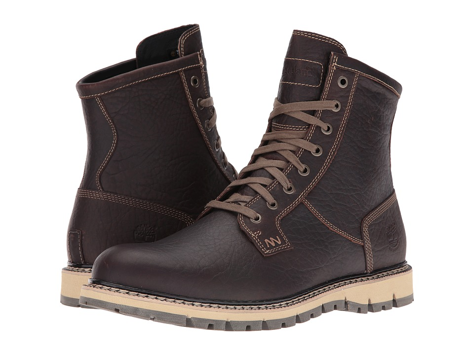 Timberland - Britton Hill Waterproof Plain Toe Boot (Dark Brown Full Grain) Men's Work Boots