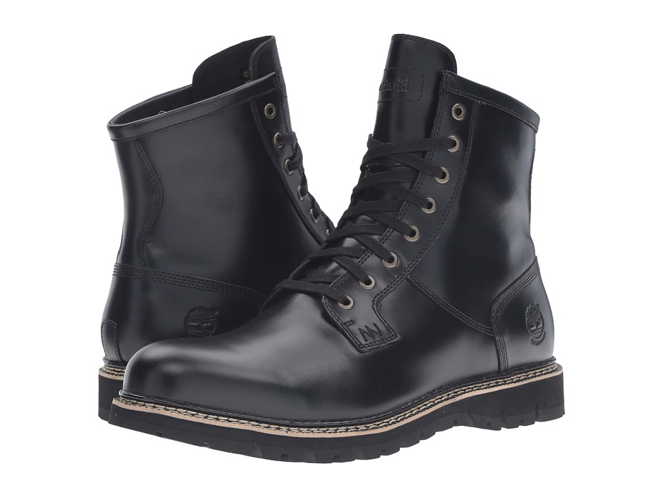 Timberland - Britton Hill Waterproof Plain Toe Boot (Black Full Grain) Men's Work Boots