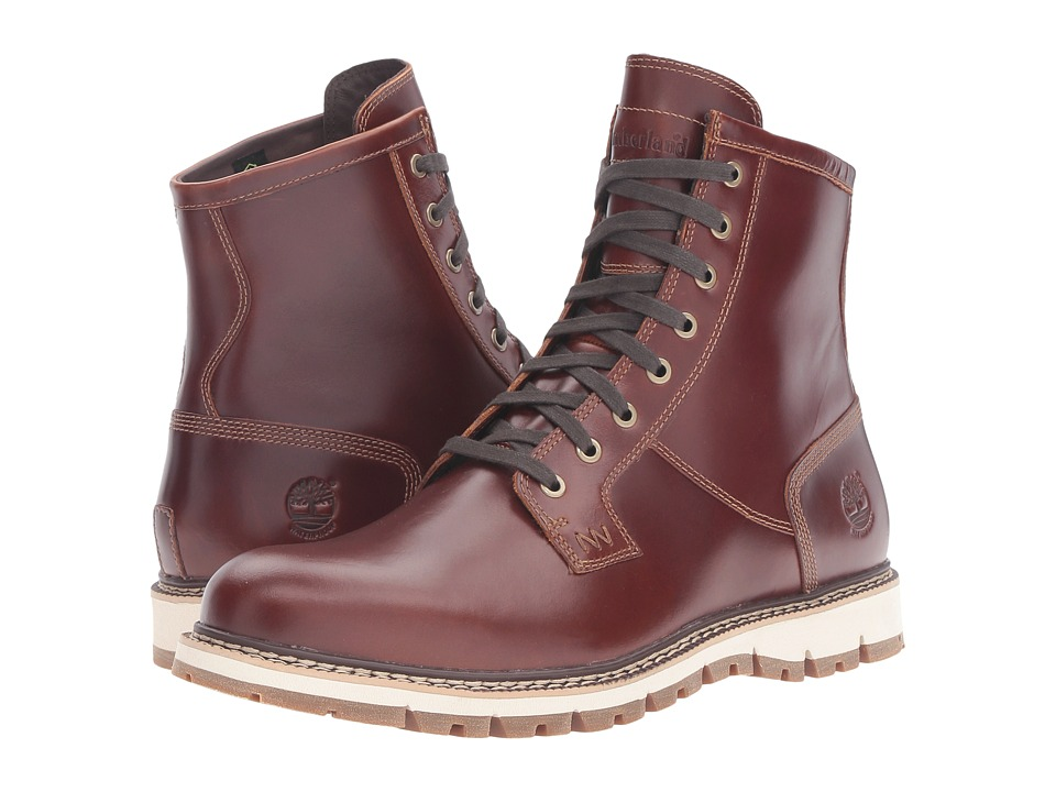 Timberland - Britton Hill Waterproof Plain Toe Boot (Medium Brown Full Grain) Men's Work Boots