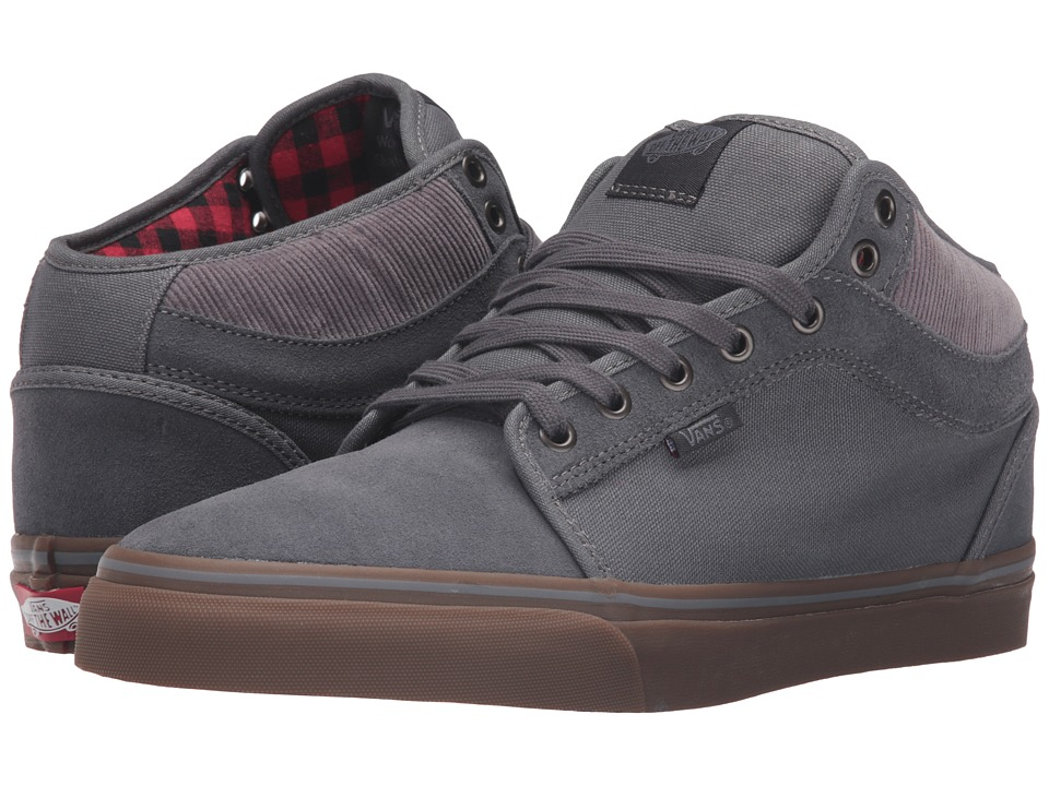 Vans - Chukka Mid Top ((Buffalo Plaid) Tornado/Gum) Men's Skate Shoes