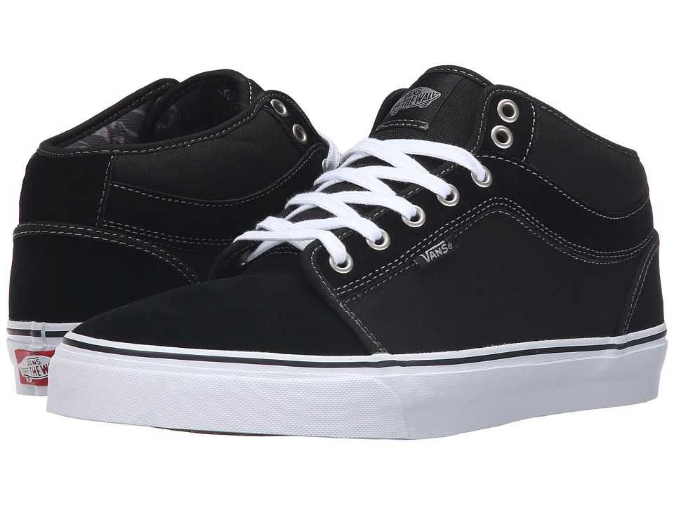 Vans - Chukka Mid Top ((Marble) Black/White) Men's Skate Shoes