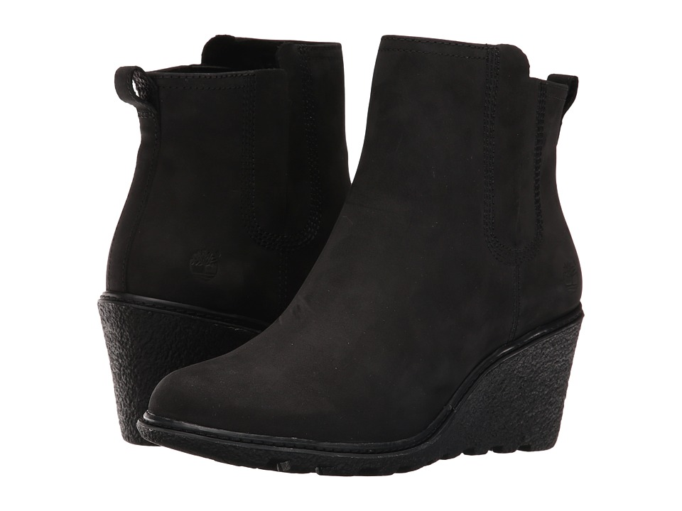 Timberland - Amston Chelsea Boot (Black Nubuck) Women's Boots