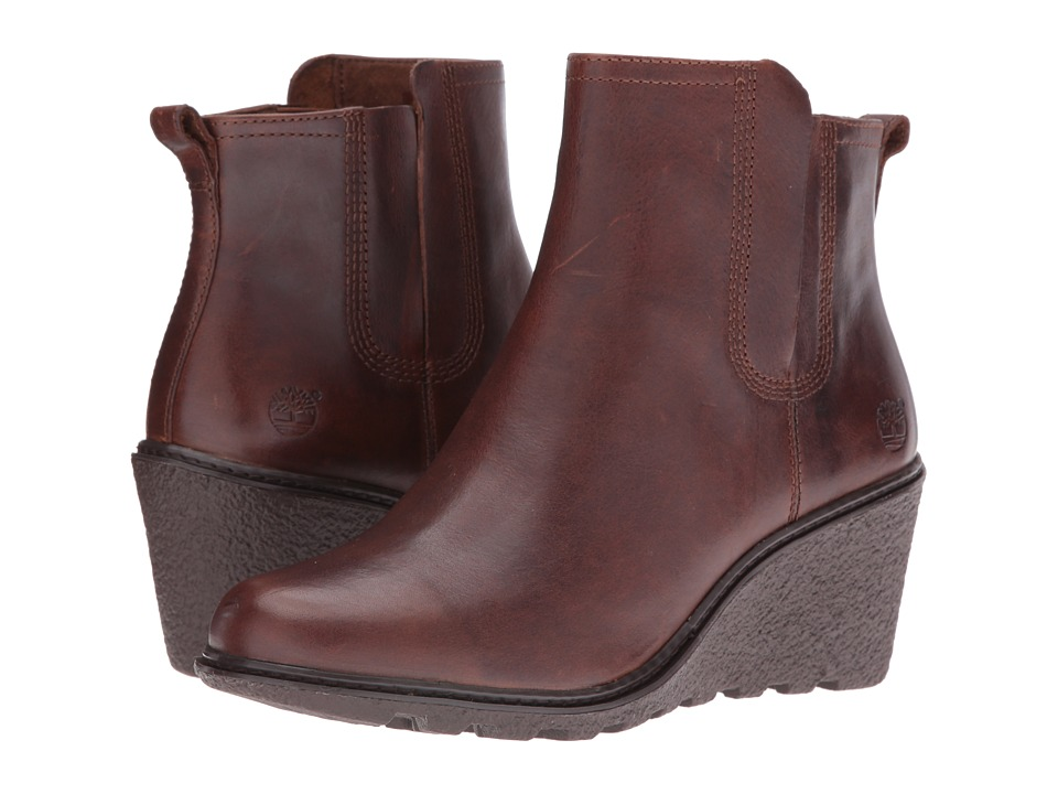 Timberland - Amston Chelsea Boot (Medium Brown Full Grain) Women's Boots