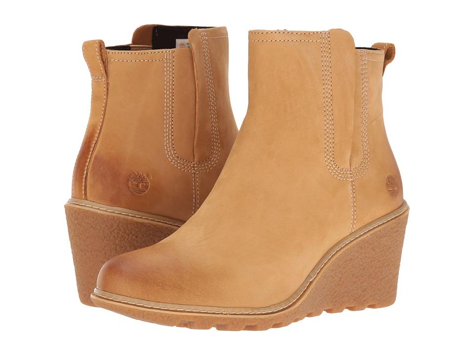 Timberland - Amston Chelsea Boot (Wheat Nubuck) Women's Boots