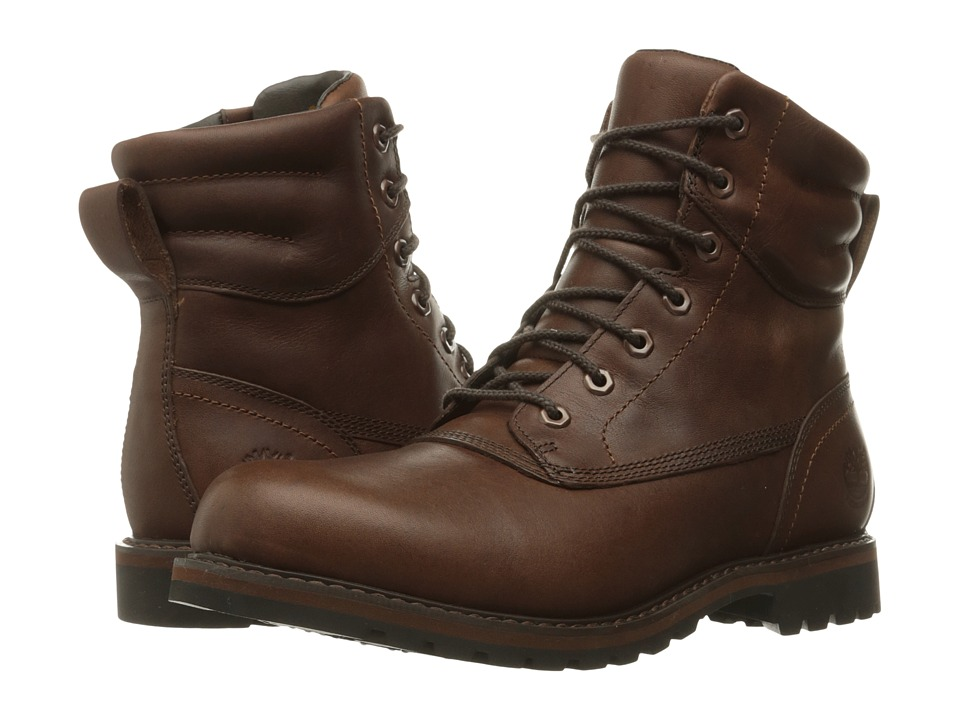 Timberland Chestnut Ridge Waterproof Plain Toe Boot (Dark Brown Full Grain) Men