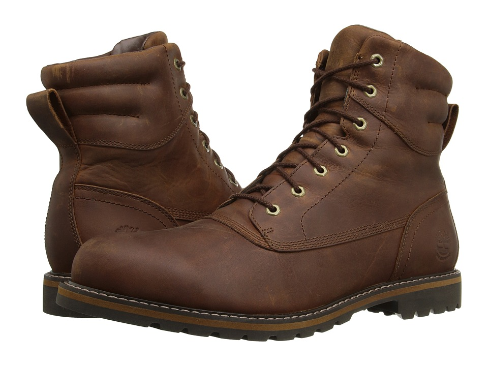 Timberland Chestnut Ridge Waterproof Plain Toe Boot (Medium Brown Full Grain) Men