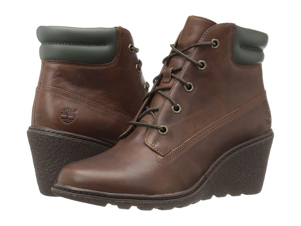 Timberland - Earthkeepers Amston 6 Boot (Medium Brown Full Grain) Women's Lace-up Boots
