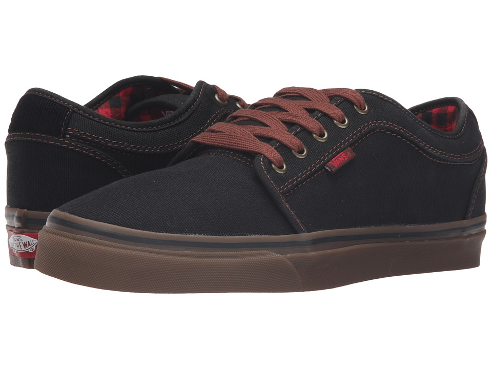 Vans - Chukka Low ((Buffalo Plaid) Black/Gum) Men's Skate Shoes
