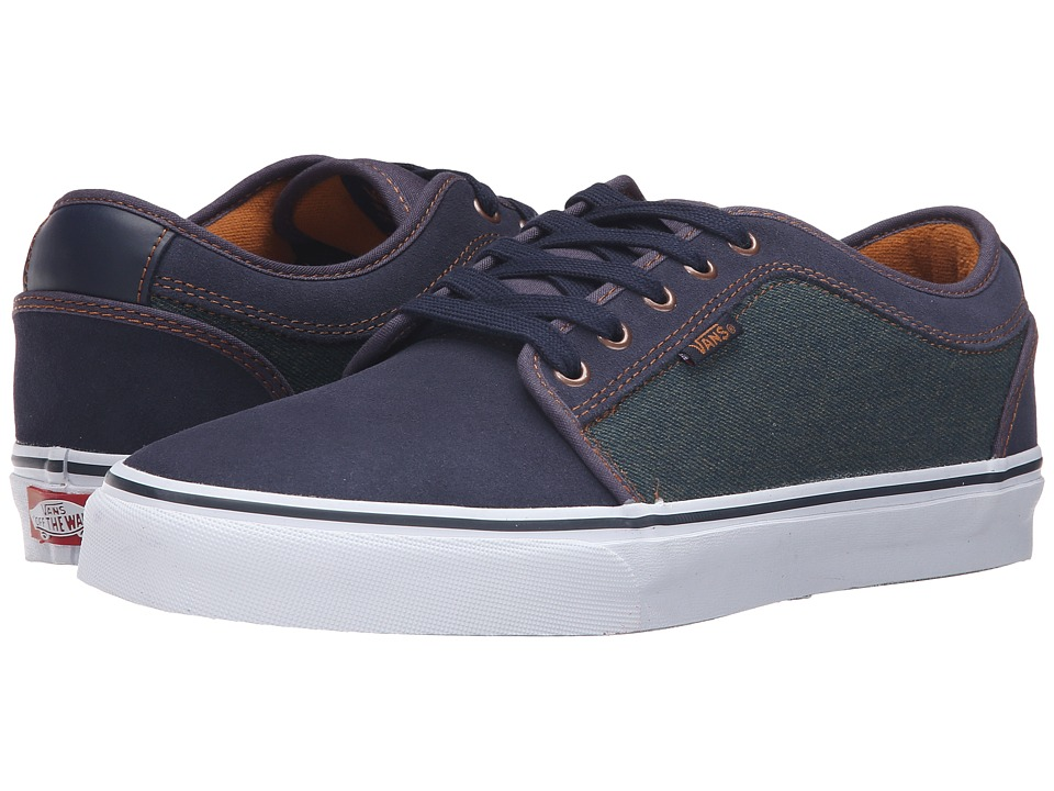 Vans - Chukka Low ((Denim) Navy/Bronze) Men's Skate Shoes