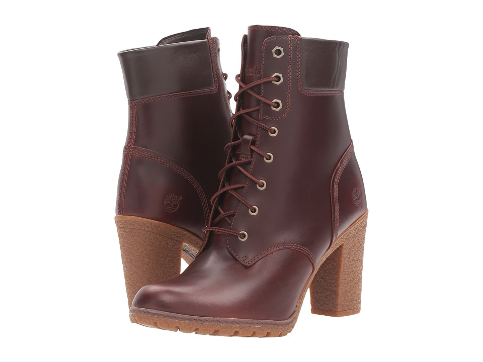 Timberland - Earthkeepers Glancy 6 Boot (Rootbeer Full Grain) Women's Dress Lace-up Boots