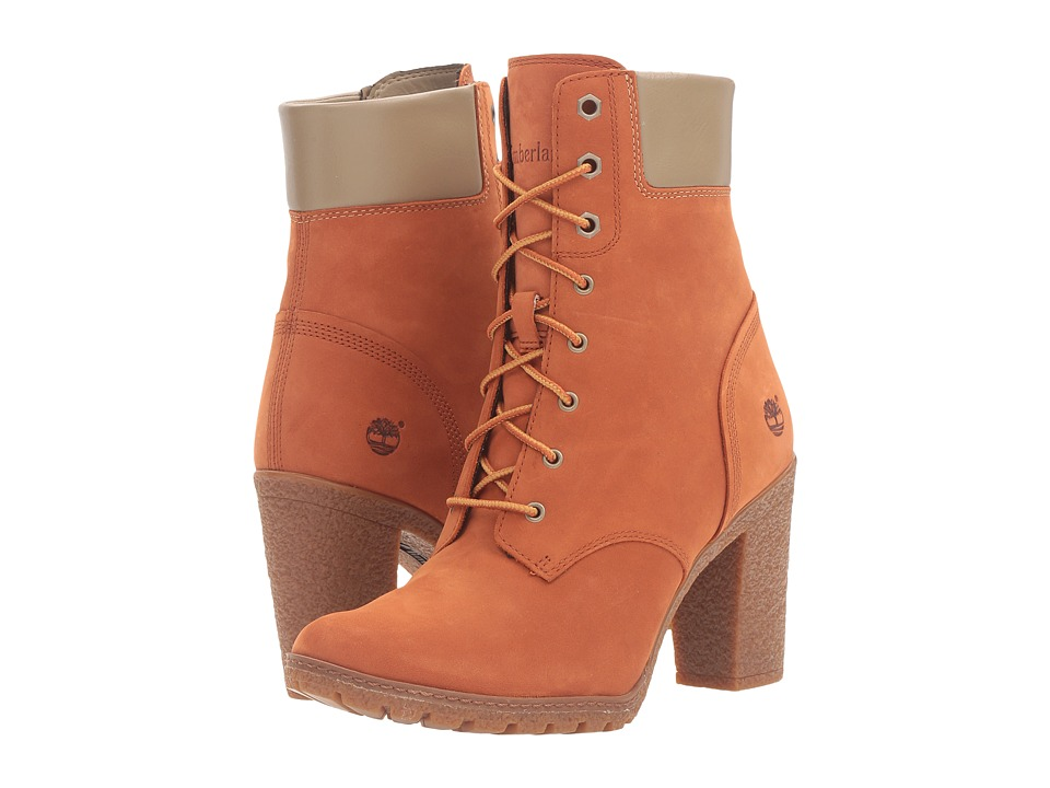 Timberland - Earthkeepers Glancy 6 Boot (Burnt Orange Nubuck) Women's Dress Lace-up Boots