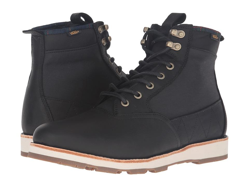 Vans - Fairbanks Boot ((Nubuck/Plaid) Black) Men's Skate Shoes