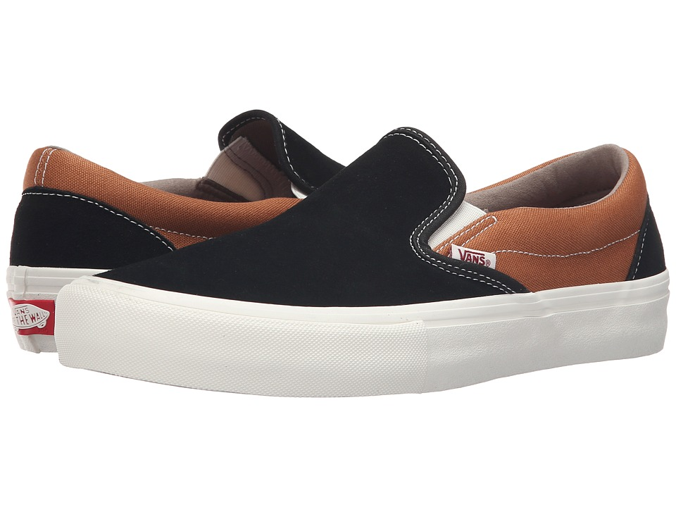 Vans - Slip-On Pro (Black/Bronze) Men's Skate Shoes