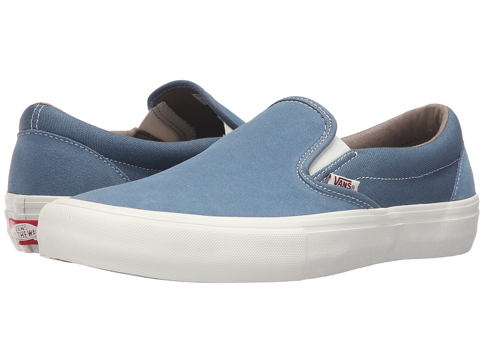 Vans - Slip-On Pro (Blue Mirage/Marshmallow) Men's Skate Shoes