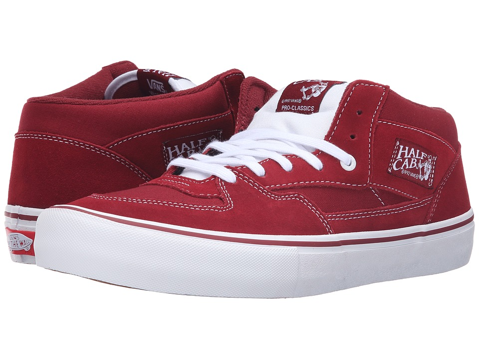 Vans - Half Cab Pro (Biking Red) Men's Skate Shoes