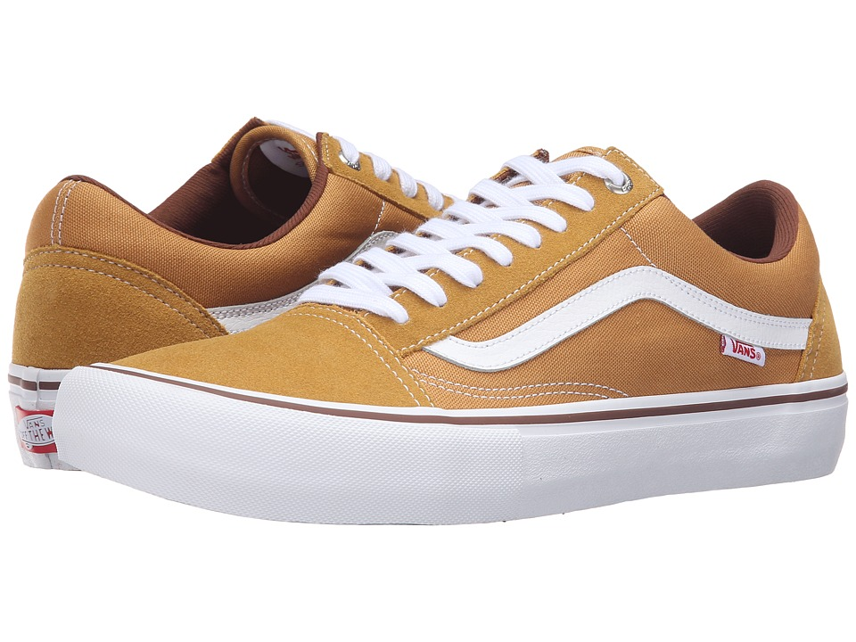 Vans - Old Skool Pro (Amber/White) Men's Skate Shoes