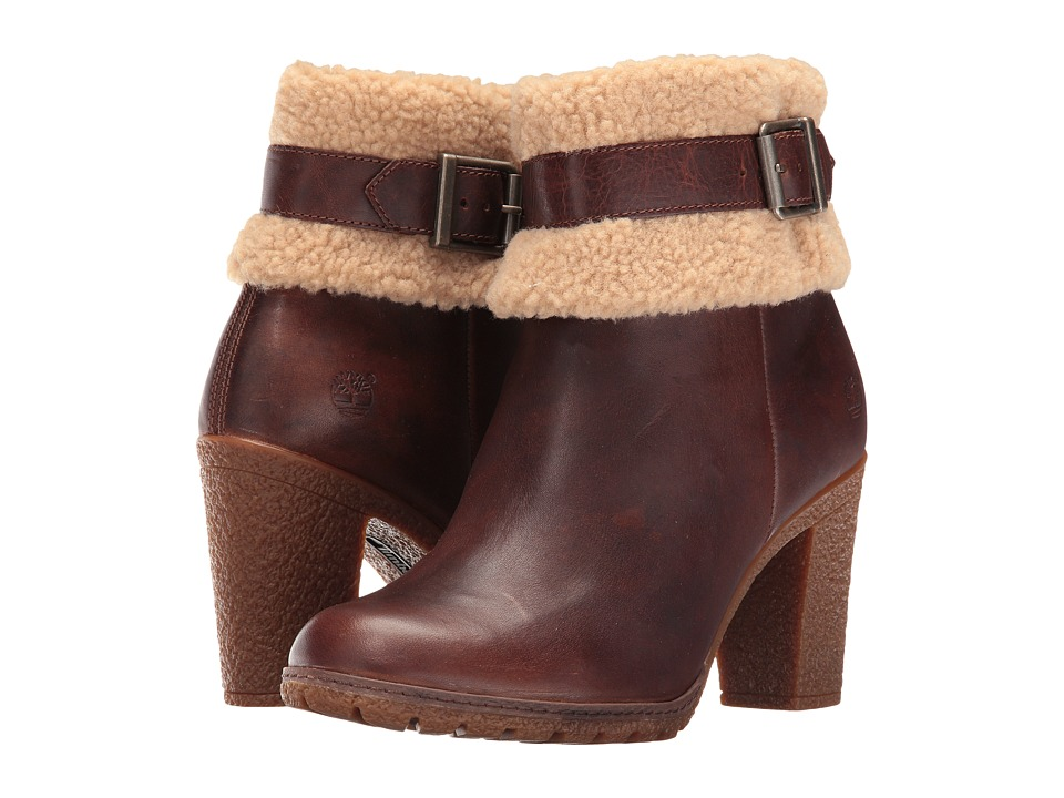 Timberland - Glancy Teddy Fleece Fold-Down Boot (Medium Brown Full Grain) Women's Boots