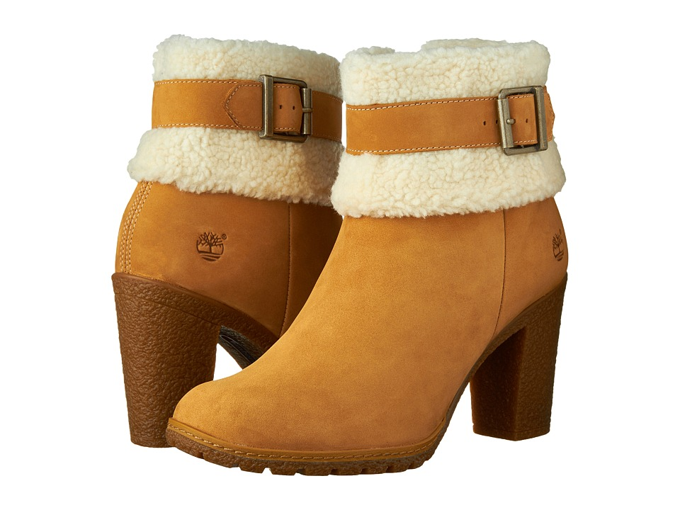 Timberland - Glancy Teddy Fleece Fold-Down Boot (Wheat Nubuck) Women's Boots