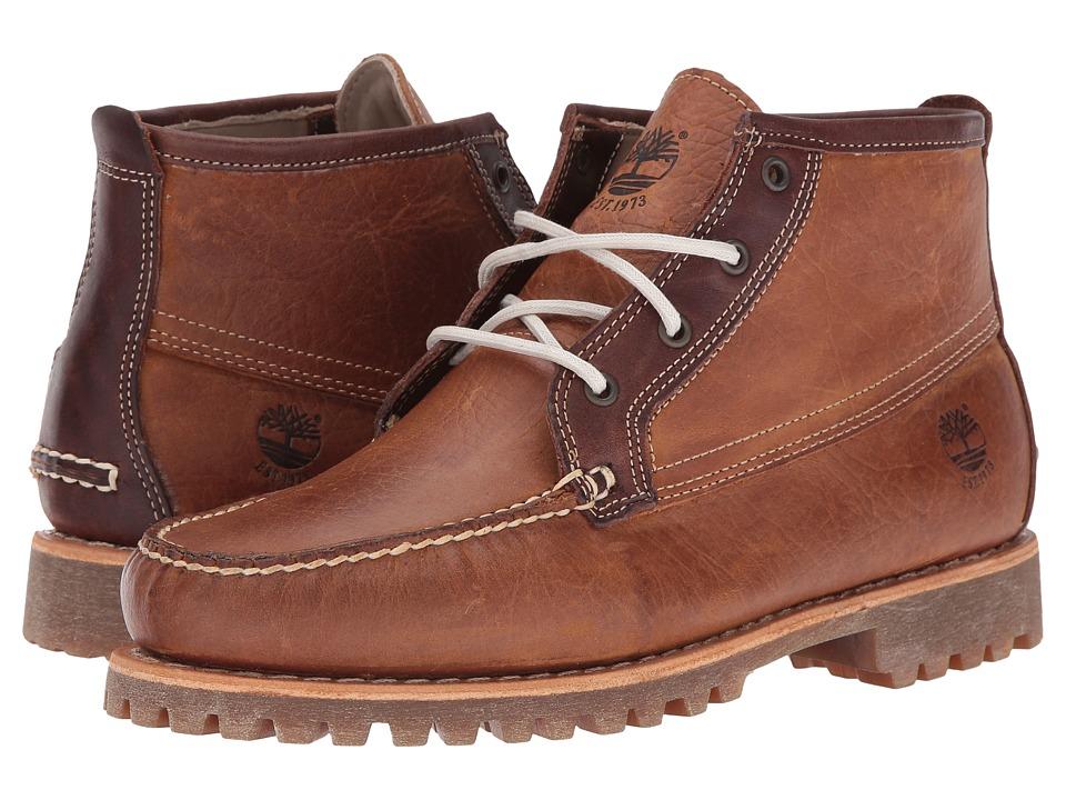 Timberland Authentics Chukka (Medium Brown Full Grain) Boys Shoes