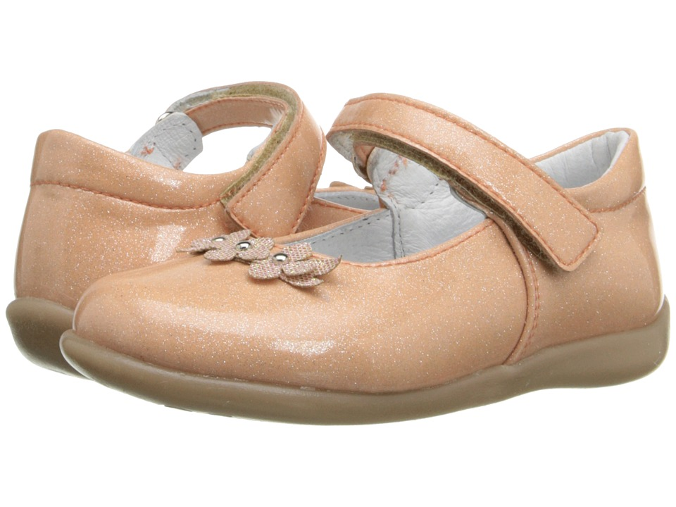 Kid Express - Lilibeth (Toddler/Little Kid) (Peach Glitter Patent) Girl's Shoes