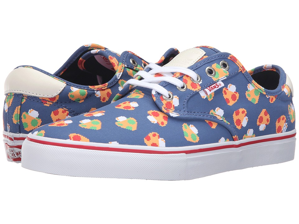 Vans - Chima Pro ((Mushrooms) Blue/White) Men's Skate Shoes