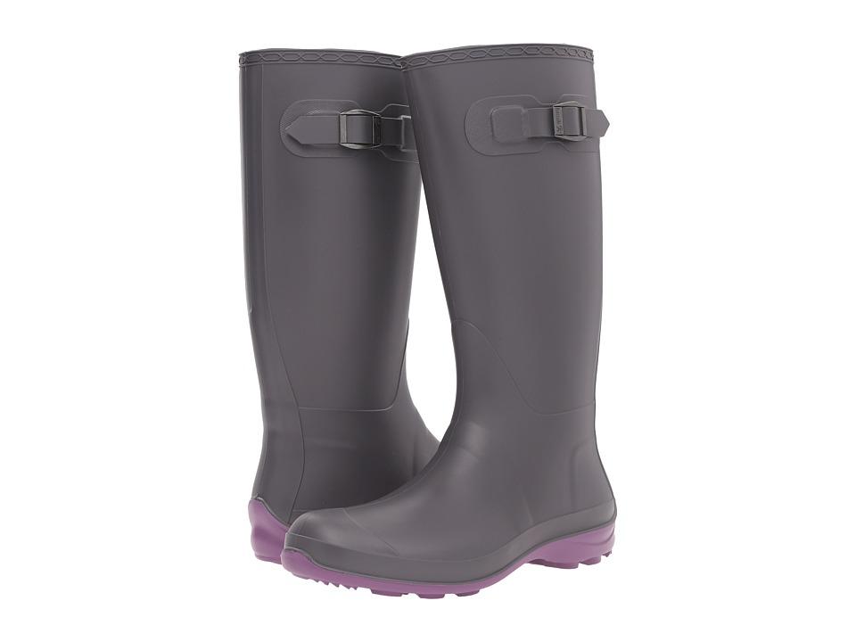 Kamik - Olivia (Charcoal/Purple) Women's Rain Boots