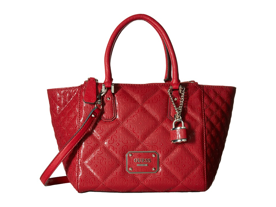 GUESS - Ophelia East/West Status Satchel (Lipstick) Satchel Handbags