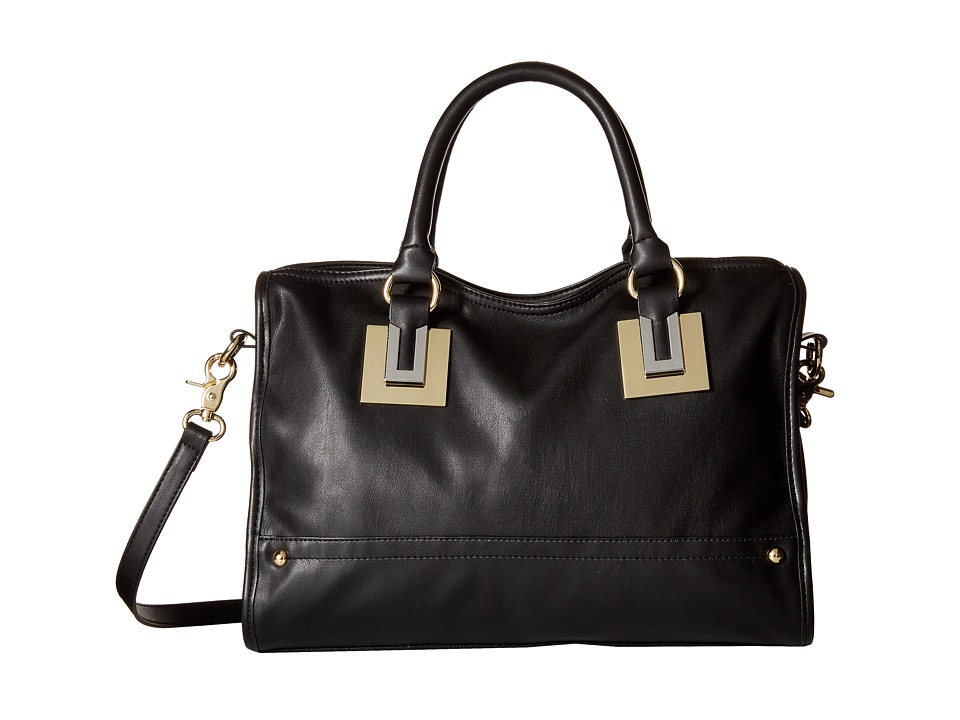 French Connection - Arden Satchel (Black) Satchel Handbags