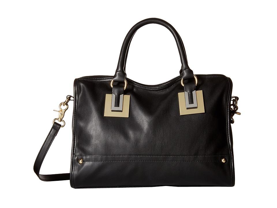French Connection - Arden Satchel (Black) Satchel Handbags