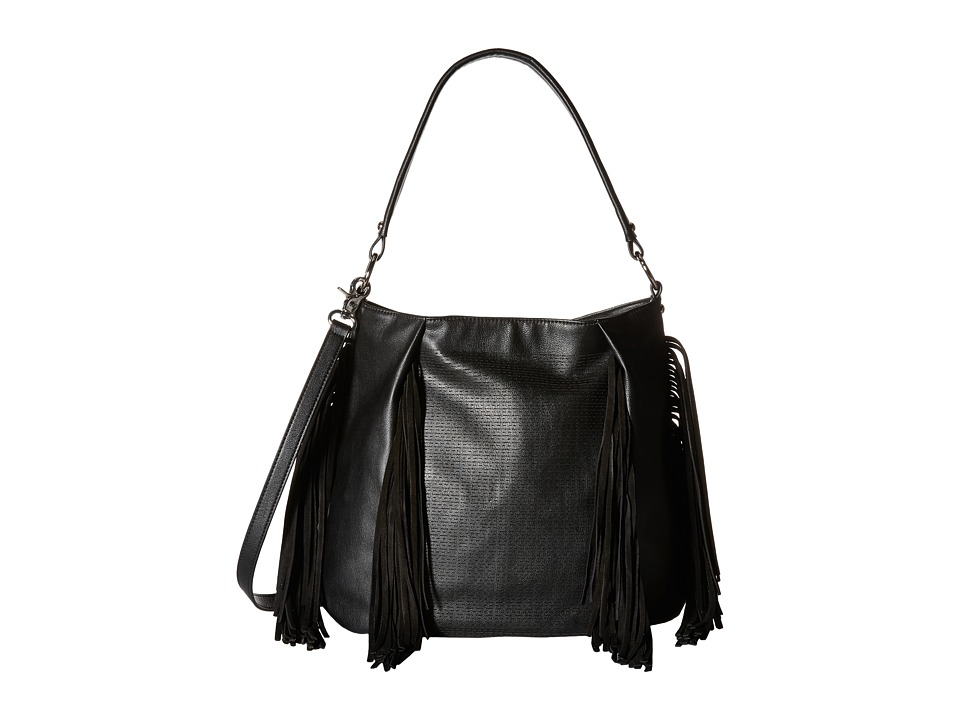 French Connection - Bailey Hobo (Black) Hobo Handbags