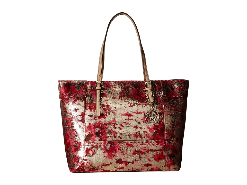 GUESS - Delaney Medium Classic Tote (Cherry Multi) Tote Handbags