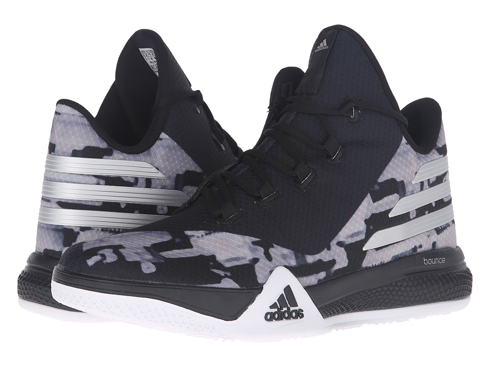 adidas - Light 'Em Up 2 (Black/Silver Metallic/Dark Grey) Men's Basketball Shoes