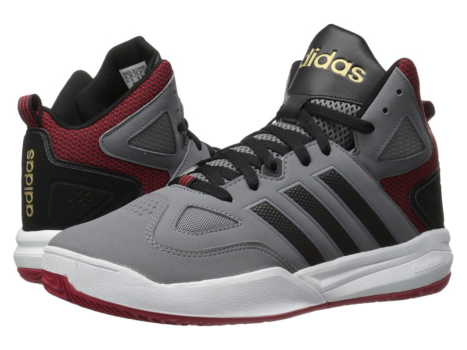 adidas - Cloudfoam Thunder Mid (Grey/Black/Power Red) Men's Basketball Shoes
