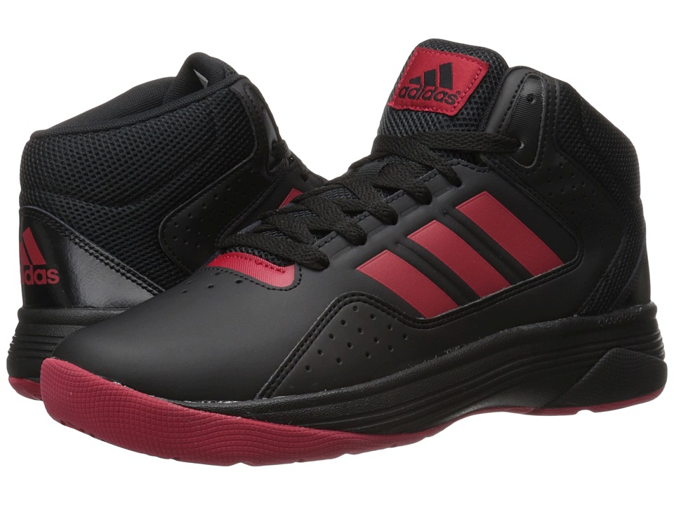 adidas - Cloudfoam Ilation Mid (Black/Power Red/Black) Men's Basketball Shoes