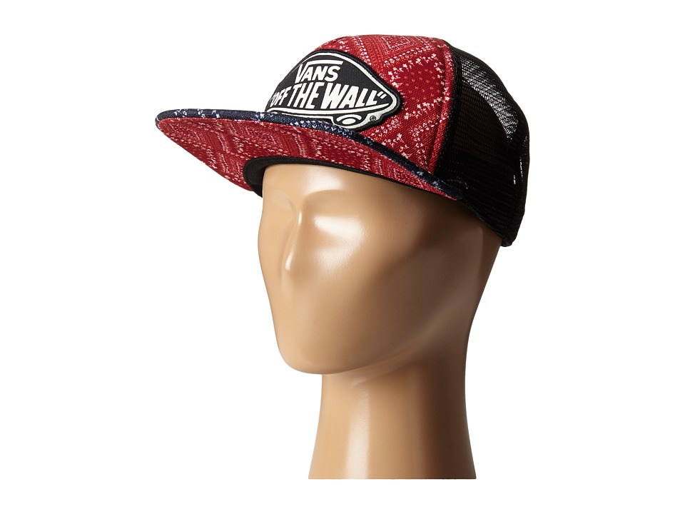 Vans - Beach Girl Trucker Hat (Bandana Chili Pepper) Caps