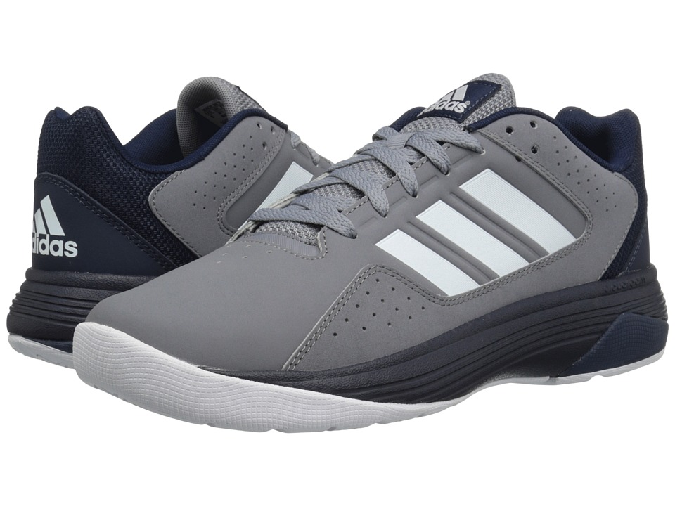 adidas - Cloudfoam Ilation (Grey/White/Collegiate Navy) Men's Basketball Shoes