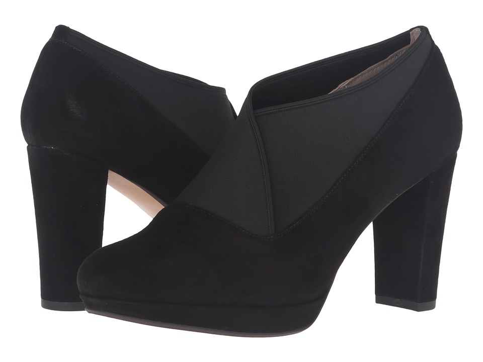 Clarks - Kendra Mix (Black Suede) High Heels