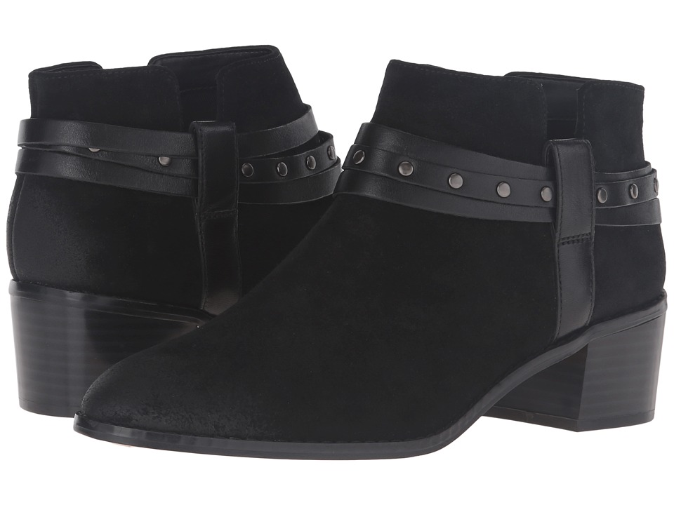 Clarks - Breccan Shine (Black Suede) Women's Pull-on Boots