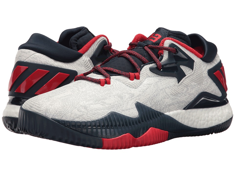 adidas - Crazylight Boost Low (White/Red/Navy) Men's Basketball Shoes