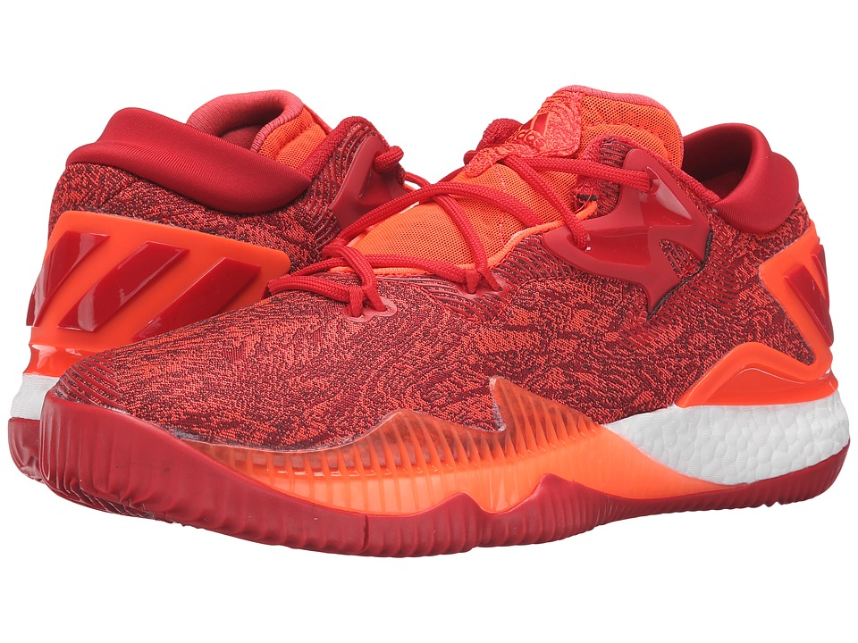 adidas - Crazylight Boost Low (Solar Red/Scarlet) Men's Basketball Shoes