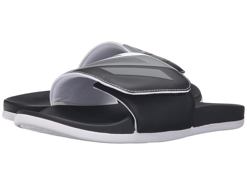 adidas Adilette Cloudfoam Ultra Adjustable (Black/Iron Metallic/White) Men